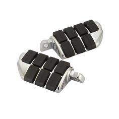 Partol  Chrome Black Heavy Duty Billet Aluminum Skid Proof Rubber Motorcycle Foot Pegs For Harley Male Mount Style Support