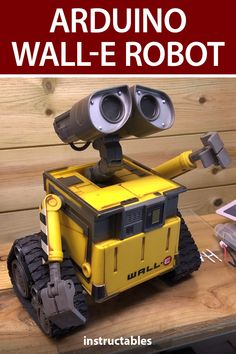 Kevr102's Wall-E build is Arduino Nano based and it's used in conjunction with a Nano Servo shield and EasyVR3 Voice recognition module, the idea being that you will give Voice commands and Wall-E will carry out the commands. #Instructables #electronics #technology #toy #robot Useful Arduino Projects, Pi Arcade, Wall E, Movie Props, Disney Diy, Science For Kids, Robotics, Kid Beds, Linux