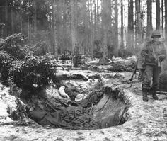 heavy fighting in the Haguenau forest 1945