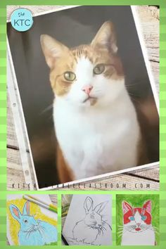 This easy printmaking lesson for kids is the perfect way to make fun pet portraits or can be done with any subject! #printmakingforkids #petportraits