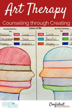 Art therapy is an excellent tool for school counselors to .Art therapy is an excellent tool for school counselors to integrate into group counseling and individual counseling. It enables students to express thoughts and feelings Counseling Worksheets, Therapy Worksheets, Group Counseling, Counseling Activities, Leadership Activities, Elementary School Counseling, School Social Work, High School, Group Therapy Activities