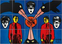 gilbert and george 2015 - Google Search Contemporary Artists, Modern Art, Gilbert & George, Superhero, Fictional Characters, Google Search, Poker, Dental, Food