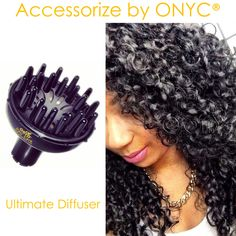 #ONYCHair has the #1 styling tool to keep those Curls and Waves popping!  Get the Ultimate Diffuser today to add to your #hair care maintenance routine.  Be sure to visit our website for other #HairCareTips Shop USA Now >>> ONYCHair.com Shop UK Now >>> ONYCHair.uk