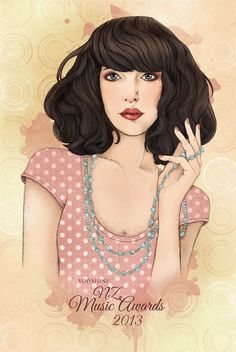 New Zealand Music Awards 2 by Linda Munt, via Behance Ralph Lauren, Music Awards, New Zealand, Portrait, Disney Princess, Stylish, Disney Characters, Illustration, Behance