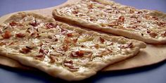 Tip for Perfect Bacon on Pizza : Cover bacon with cold water in a small saucepan; bring to a boil and drain. This step takes out extra salt and fat from the bacon and allows it to crisp up on the tarte without burning.