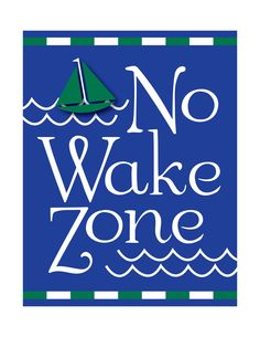 No Wake Zone, Nautical Baby Nursery Decor, Nautical Nursery, Nautical Kids…