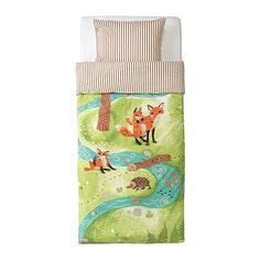 Ikea Vandring Rav Fox Duvet Cover ($20).  I absolutely love this!  I hope it's not discontinued by the time I decide to have a baby.  I'll have to hunt it down on eBay!