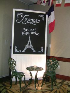 Around the World Themed Event #France #eiffeltower #bistro #french #event #decor