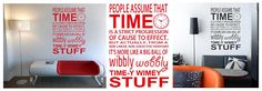 Wall Art Decal  Timey Wimey Dr Who Creative Wall Decor, Traditional Wallpaper, Home Hacks, Hello Everyone, Decorating Your Home, Vinyl Decals, Your Design, Budget, Wall Art
