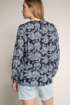 EDC / Slinky paisley print blouse | The Blouse Effect! | Pinterest |  Paisley print