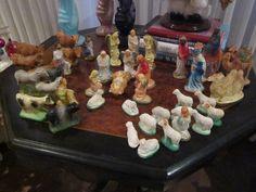 vintage chalkware nativity