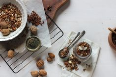 basic almond walnut toasted muesli granola :: Hortus Natural Cooking