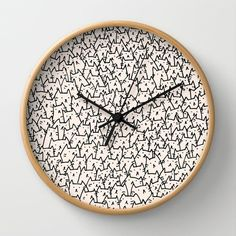 Because cats. Always. :: A Lot of Cats Wall Clock