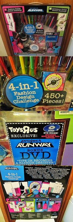 Craft Kits 116655: 2009 Project Runway 4-In-1 Fashion Design Challenge Set Nib 450+ Pieces W Dvd -> BUY IT NOW ONLY: $34.99 on eBay!