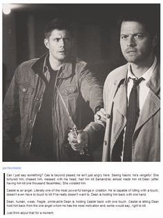 Ah destiel, why won't you just happen already