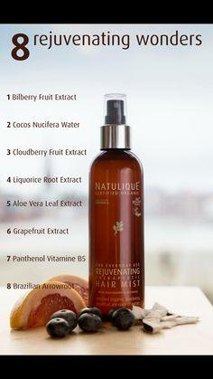 NATULIQUE new product Organic Blueberries, Hair Mist, Grey Hair, Hair Products, Aloe Vera, Mists, Beauty