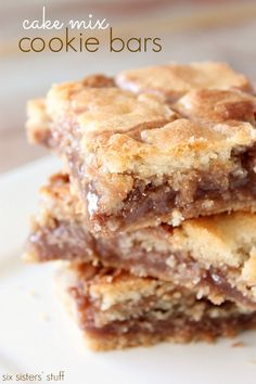 These Cake Mix Cookie Bars are the perfect combination of gooey and crunchy!