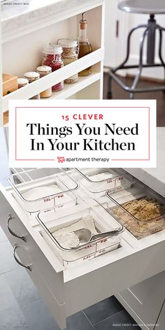 15 Clever Things You Didn't Know You Really Needed in Your Kitchen   Are you thinking about remodeling your kitchen? Here are 15 clever details you might want to consider adding. They're all elegant solutions that make life in the kitchen just a little bit easier, and we wouldn't blame you one bit if you want them all.