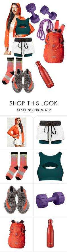 """""""Orange+Green-->Workout❤️"""" by p0llyinurpocket ❤ liked on Polyvore featuring Forever 21, No Ka'Oi, adidas, Lorna Jane, Jack Wolfskin and S'well"""