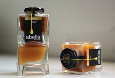 Abella artisan honey packaging by Bonnie Miguel