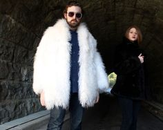Men's Fur Coats | Mens Genuine Full Skin White Fox Fur Coat ...