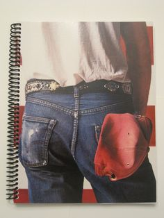 "Bruce Springsteen Recycled Record Album Notebook LP from the original vinyl album case ""Born in the U.S.A."". $9.79, via Etsy."
