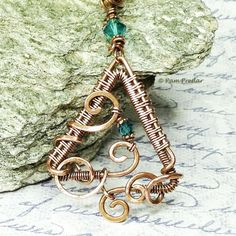 Woven Triangle Pendant Jewelry Making Tutorial by JewelryToolBox, $5.50