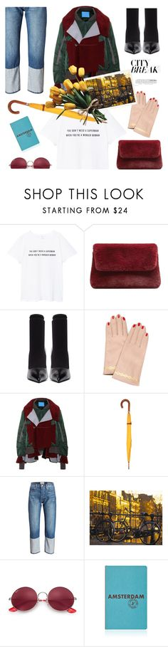 """city break"" by gabrielleleroy ❤ liked on Polyvore featuring MANGO, Balenciaga, Undercover, London Undercover, Lauren Conrad, Ray-Ban and Louis Vuitton"