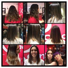 María estrena look para este verano, con un long bob y un balayage suave, de la mano de su estilista Susana. #balayage #estilistas #ronco #moda #peluqueros #color #creacion #hair