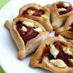32 Crazy Hamantaschen for Purim! Caramelized Onion and Goat Cheese Savory Pizza Hamantaschen