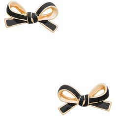 Kate Spade Skinny Mini Bow Studs ($48) ❤ liked on Polyvore featuring jewelry, earrings, kate spade, bow stud earrings, kate spade earrings and kate spade jewelry
