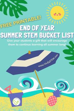 Summer is almost here! Give your students a gift that will encourage them to continue learning all summer long. With a Summer STEM Bucket List, kids will explore, create, and discover things about the world around them in a way that kids (and their teachers) love! Get your FREE printable Summer STEM Bucket List here! #STEM #STEMeducation #STEMed #SummerSTEM #EndOfYearSTEM #FreeSTEM Math Games For Kids, Fun Math Activities, End Of Year, Student Gifts, Teaching Tips, Math Lessons, Encouragement, About Me Blog, Learning