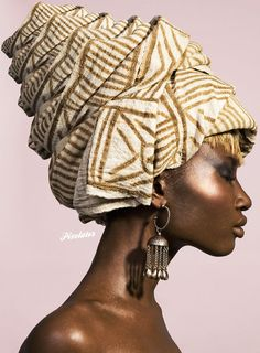 Image result for african woman profile with  turban