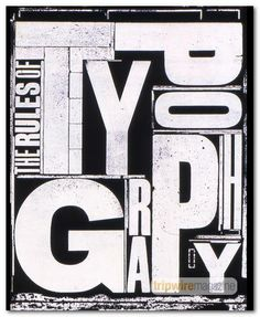 Big type - cool typography showcase