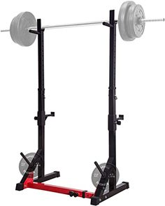 UBOWAY Barbell Rack Multi-Function Adjustable Squat Rack 550LBS Max Load Weight Bench Press Stand Dipping Station