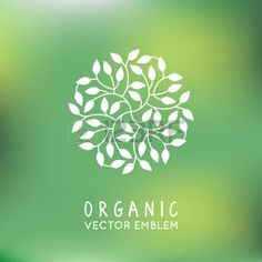 Illustration of Vector organic and natural emblem and logo design template - green ecology concept or natural cosmetics - circle made with leaves vector art, clipart and stock vectors. Emblem Logo, Gins Of The World, Tea Logo, Organic Packaging, Organic Logo, Cosmetic Design, Leaves Vector, Logo Design Template, Logo Images