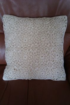 Crochet pillow - made by Rommie