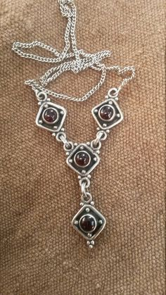 The 64 best antique jewellery images on pinterest in 2018 ancient purple garnet in sterling silver vintage necklace aloadofball Gallery