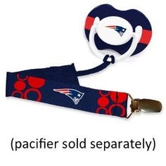 NFL New England Patriots Baby Fanatic Pacifier Clip