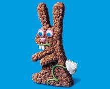 Large Bunny #ricekrispies #bunny #Easter #kidstreats #nobakerecipe #food Easter Cupcakes, Easter Cookies, Easter Treats, Rice Krispie Treats, Rice Krispies, Cereal Recipes, Baking Recipes, Rice Cereal, Bubble