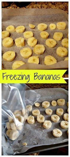 How to freeze bananas easily that are perfect for smoothies! Directions for…