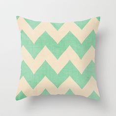Malibu - Chevron Throw Pillow by CMcDonald - $20.00