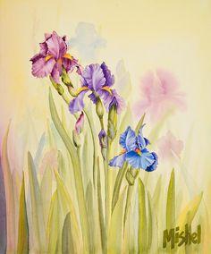 Iris Garden Ll Painting by Mishel Vanderten
