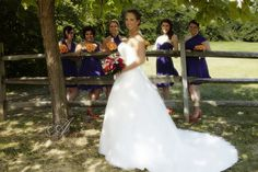 The bridal party in the Ohio Village.  Columbus Ohio Wedding Venue | Ohio Village Wedding