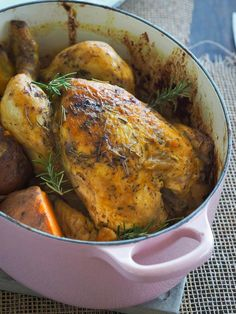 Pollo asado a la mostaza