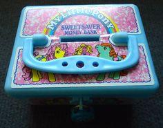 'Sweet Saver Money Box' -with blue lock