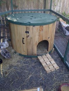 wood wire spools   Cable Spool Duck House