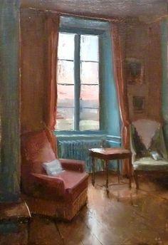 KENNY HARRIS Interior at Twilight 2, Study (2010)