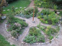 Medicine Wheel garden - photos from start to finish