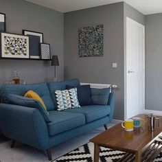 Living Room Decor Colors, Living Room Decor Inspiration, Living Room Sofa Design, Living Room Shelves, Living Room Color Schemes, Cozy Living Rooms, Living Room Grey, Living Room Designs, Living Room Seating